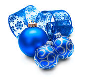 Christmas and New Year Blue blue decoration Royalty Free Stock Photos