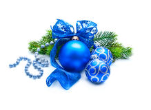 Christmas and New Year Blue blue decoration Royalty Free Stock Photography