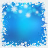 Christmas and New Year blue vector background Royalty Free Stock Photo