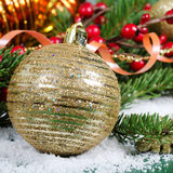 Christmas and New Year Border Royalty Free Stock Photography
