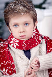 Christmas and new year boy Stock Image