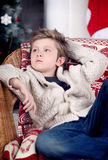Christmas and new year boy Royalty Free Stock Image