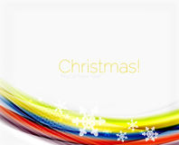 Christmas and New Year business wave template Royalty Free Stock Image