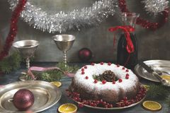 Christmas and New Year cake royalty free stock photos