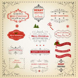 Christmas And New Year Calligraphic And Typographic design Stock Images