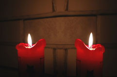Christmas and New Year candle Stock Photography