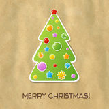 Christmas And New Year Card. Vector Illustration royalty free illustration