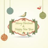 Christmas and New Year Card. Vector illustration of Christmas and New Year Card Stock Photos