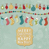 Christmas and New Year card. Christmas stock royalty free illustration