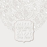 Christmas and New Year card. Vector illustraton royalty free illustration
