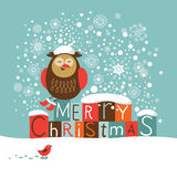 Christmas and New Year card Royalty Free Stock Photo