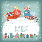 Christmas and New Year card vector illustration