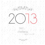 Christmas and New Year card. Christmas and New Year greeting card vector illustration