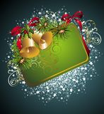 Christmas and New Year card with bells Royalty Free Stock Photo
