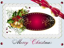Christmas and New Year card with bells Royalty Free Stock Image