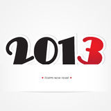 Christmas and new year card with black and red. 2013 numbers Stock Illustration
