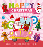 Christmas and New Year card Stock Images