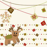 Christmas and New Year Card with deer Royalty Free Stock Photo