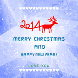 Christmas and New Year 2014 card1. Christmas and New Year 2014 card for everyone Stock Photo