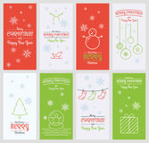 Christmas and new year card in flat design. Vector christmas and new year card in flat design stock illustration