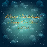 Christmas and New Year card. Geometric pattern of  Royalty Free Stock Photo