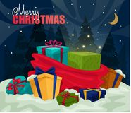 New Year or Merry Christmas holiday card Stock Images