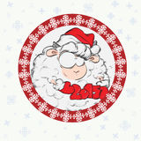 Christmas and New Year Card. New year 2015 card. The year of goat vector illustration Stock Photo