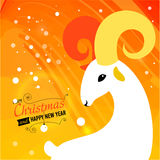 Christmas and New year card for 2015. Merry Christmas and Happy new year card for 2015 year of Goat and Sheep Vector Illustration