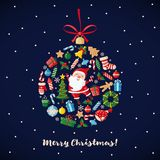 Christmas and New Year Card. Stock Photography