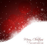 Christmas and New Year card with snowflakes, snowdrifts, stars and glitter. Stock Images