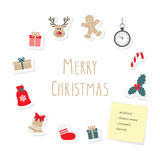 Christmas and New Year card template. Stock Photos
