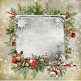 Christmas and New Year card Royalty Free Stock Image