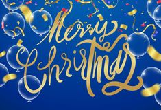 Christmas and New Year Card Typography over a delicate nature ba. Ckground royalty free illustration