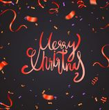 Christmas and New Year Card Typography over a delicate nature ba. Ckground stock illustration