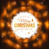 Christmas And New Year cards with Typographical on shiny Xmas background Royalty Free Illustration