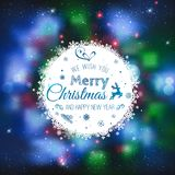 Christmas And New Year cards with Typographical on shiny Xmas background Vector Illustration