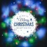 Christmas And New Year cards with Typographical on shiny Xmas background Stock Illustration