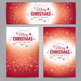 Christmas And New Year cards with Typographical on Xmas background Stock Image