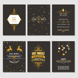 Christmas and New Year Cards Royalty Free Stock Photography