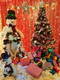 Christmas new year celebration. Decoration corner Royalty Free Stock Images