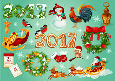 Christmas and New Year celebration poster Royalty Free Stock Photo