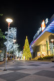 Christmas and new year celebrations. Lampang, Thailand - 31 December 2014: Central Plaza the most famous shopping mall in Lampang decorate the building for Stock Image