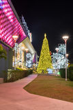Christmas and new year celebrations. Lampang, Thailand - 31 December 2014: Central Plaza the most famous shopping mall in Lampang decorate the building for Stock Photos