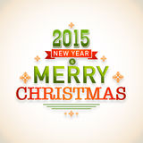 Christmas and New Year celebrations poster with stylish text des Royalty Free Stock Images