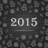 Christmas or New Year Chalkboard design. 2015 Royalty Free Stock Photography