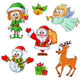Christmas and New Year characters Royalty Free Stock Image