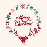 Christmas and New Year royalty free illustration