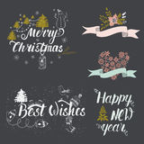 Christmas and new year collection Royalty Free Stock Photos