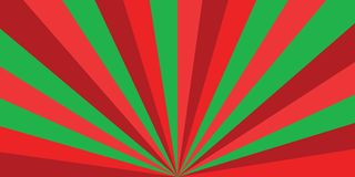 Christmas or new year colored sunburst ray  pattern with red and green diagonal line, stripes background. Sunburst ray  Christmas or new year colored pattern Royalty Free Stock Photos