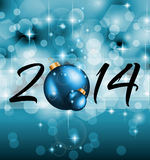 2014 Christmas and New Year Colorful Background Stock Photos